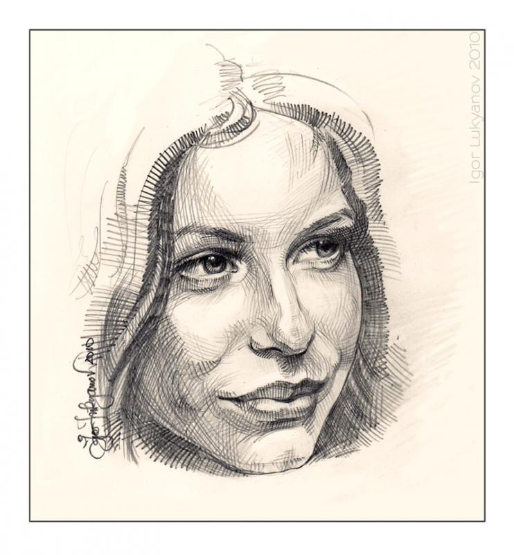 Drawn portrait cross hatching Drawings · WetCanvas of Art