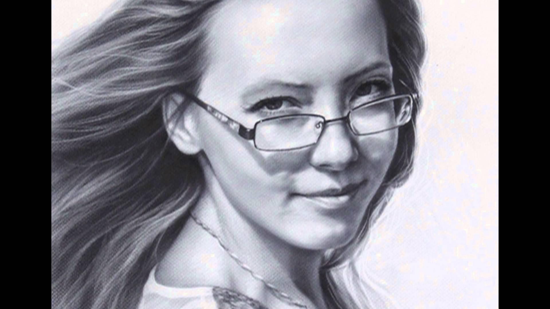 Drawn portrait beautiful woman By  Portrait Female YouTube