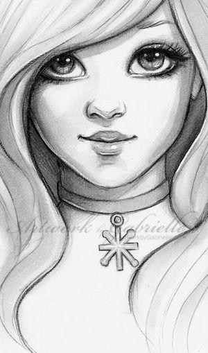 Drawn portrait cute Easy drawing easy on Best