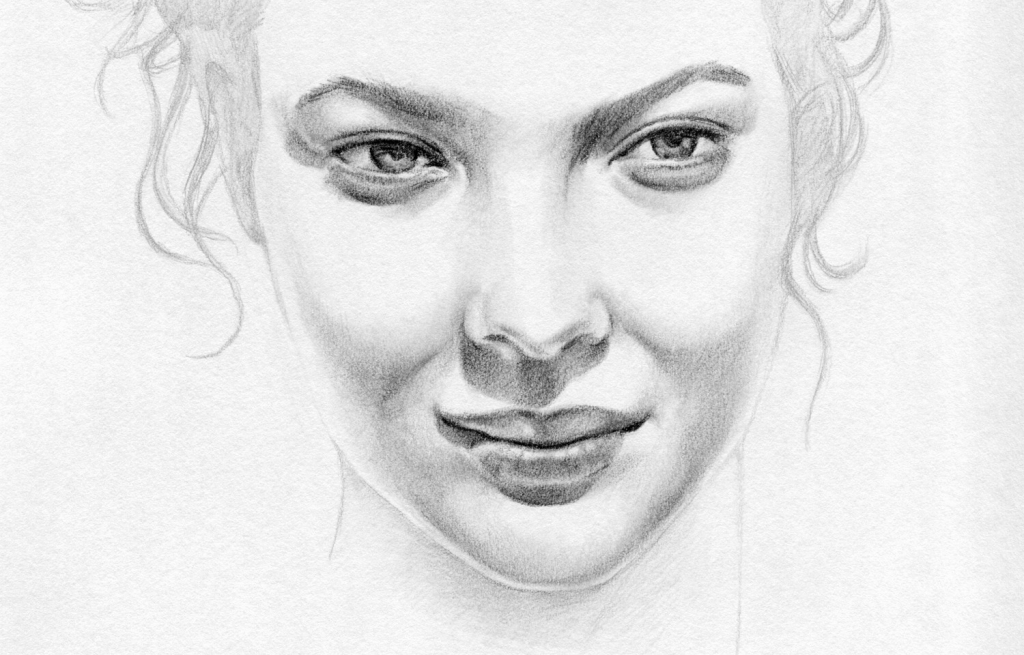 Drawn women real face Was Lessons To Drawing To