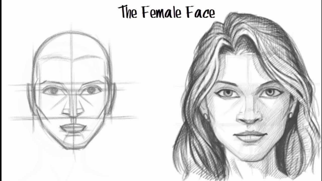 Drawn women real face Skethes Entry  This To