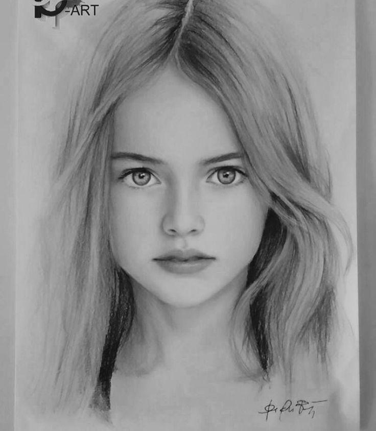 Drawn portrait beautiful woman On Secrets Beautiful Discover Portraits