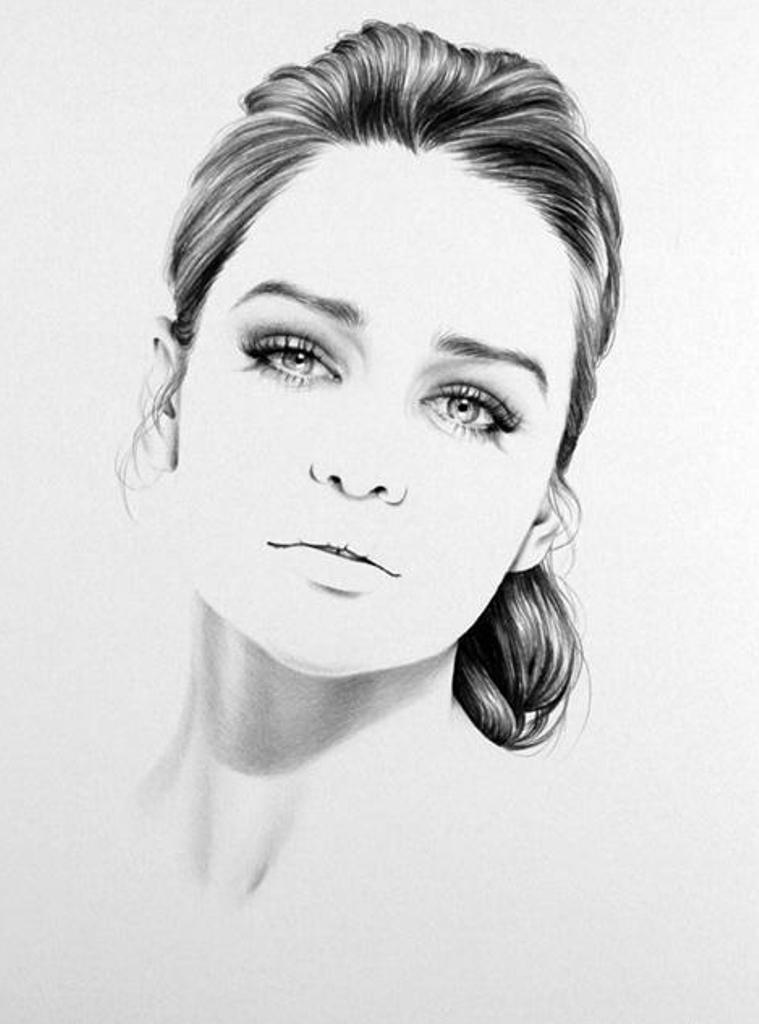 Drawn portrait minimal Hair work Para Desenhar in