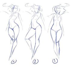 Drawn women reference And  Floor' body ideas