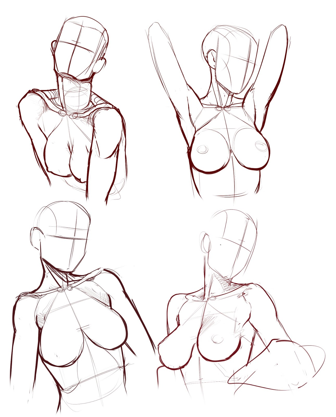 Drawn women reference Pinterest form  body female