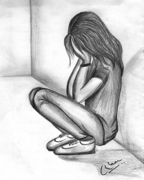 Drawn women sad Be and Marjo as somewhere