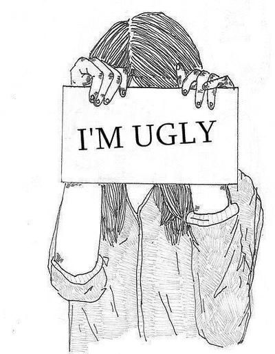 Drawn sad depression Ugly girl Ugly Search Best