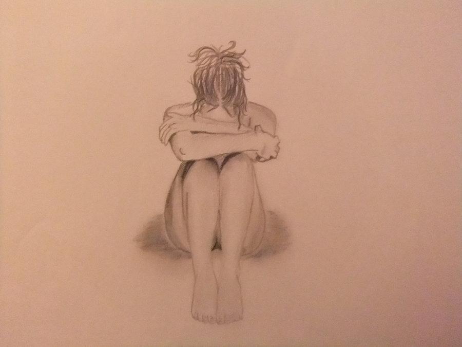 Drawn women sad By on by RawrImTara RawrImTara