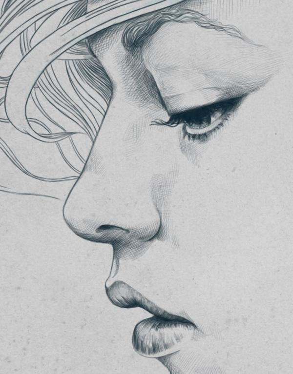 Drawn sad pencil sketch Be of from Women Love