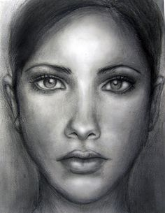 Drawn portrait shaded face To for Women Pencil Women