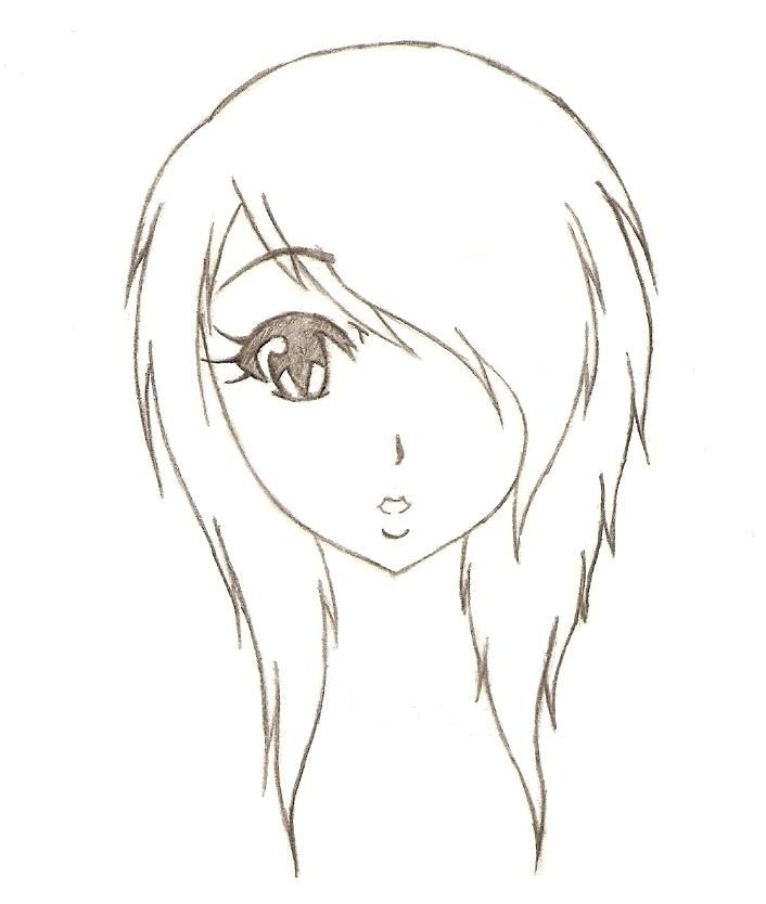 Drawn women simple Best Emo Emo Anime images