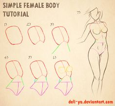 Drawn women simple Deviantart on on Female by