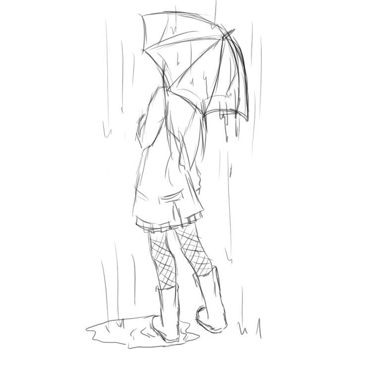 Drawn women simple Umbrella this more on drawing