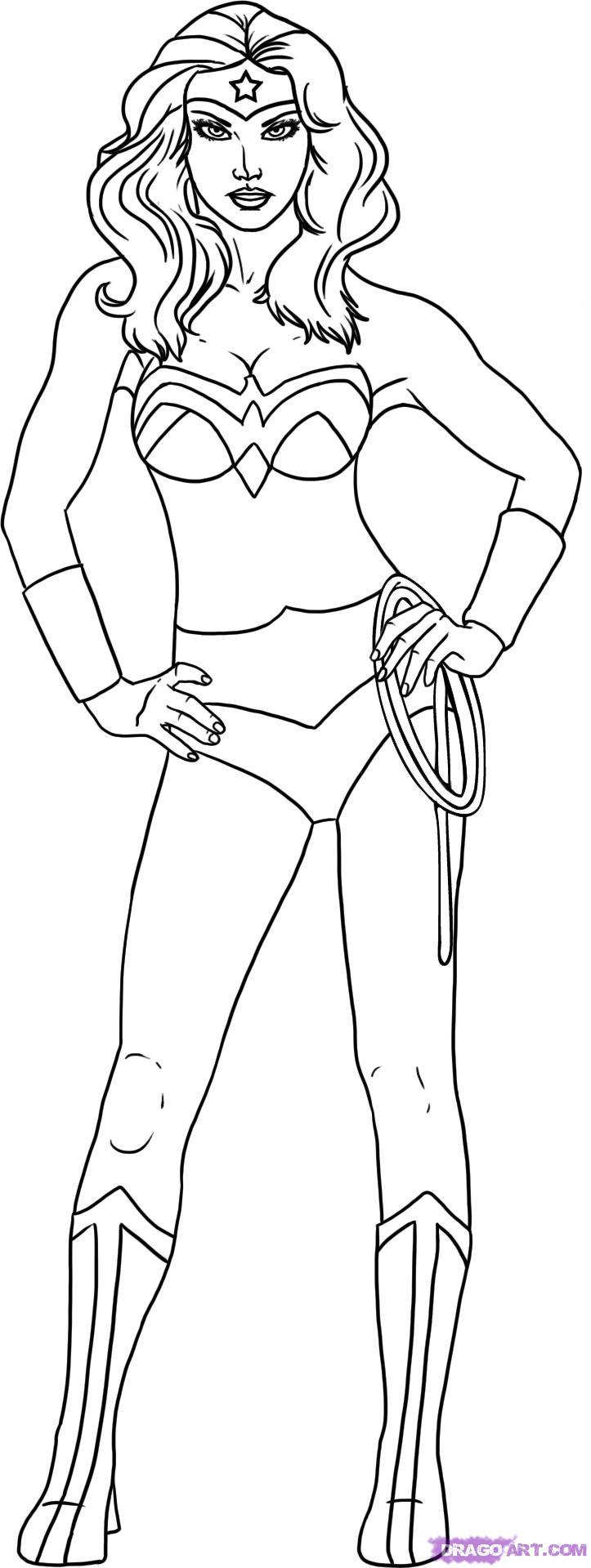 Drawn super girl Drawing Wonder Woman 8 to Dc Draw draw