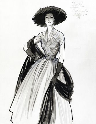 Drawn women vintage 25+ Fromenti vintage Vintage prints
