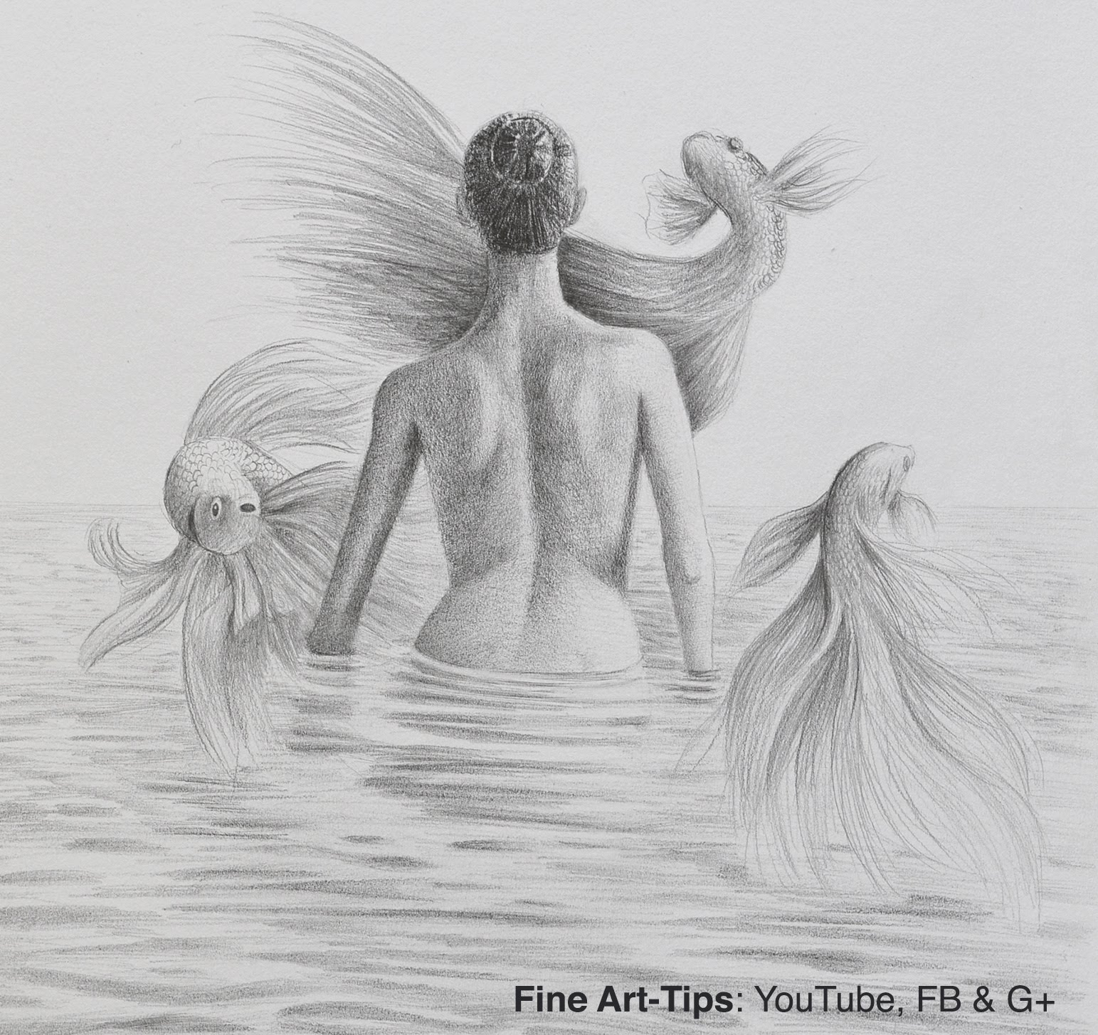 Drawn women woman's Draw to Back Surface With