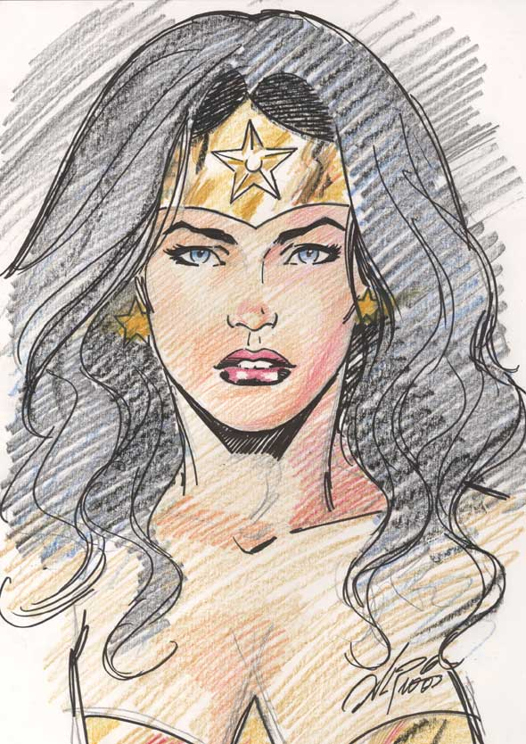 Drawn women wonder woman With hair this I Woman