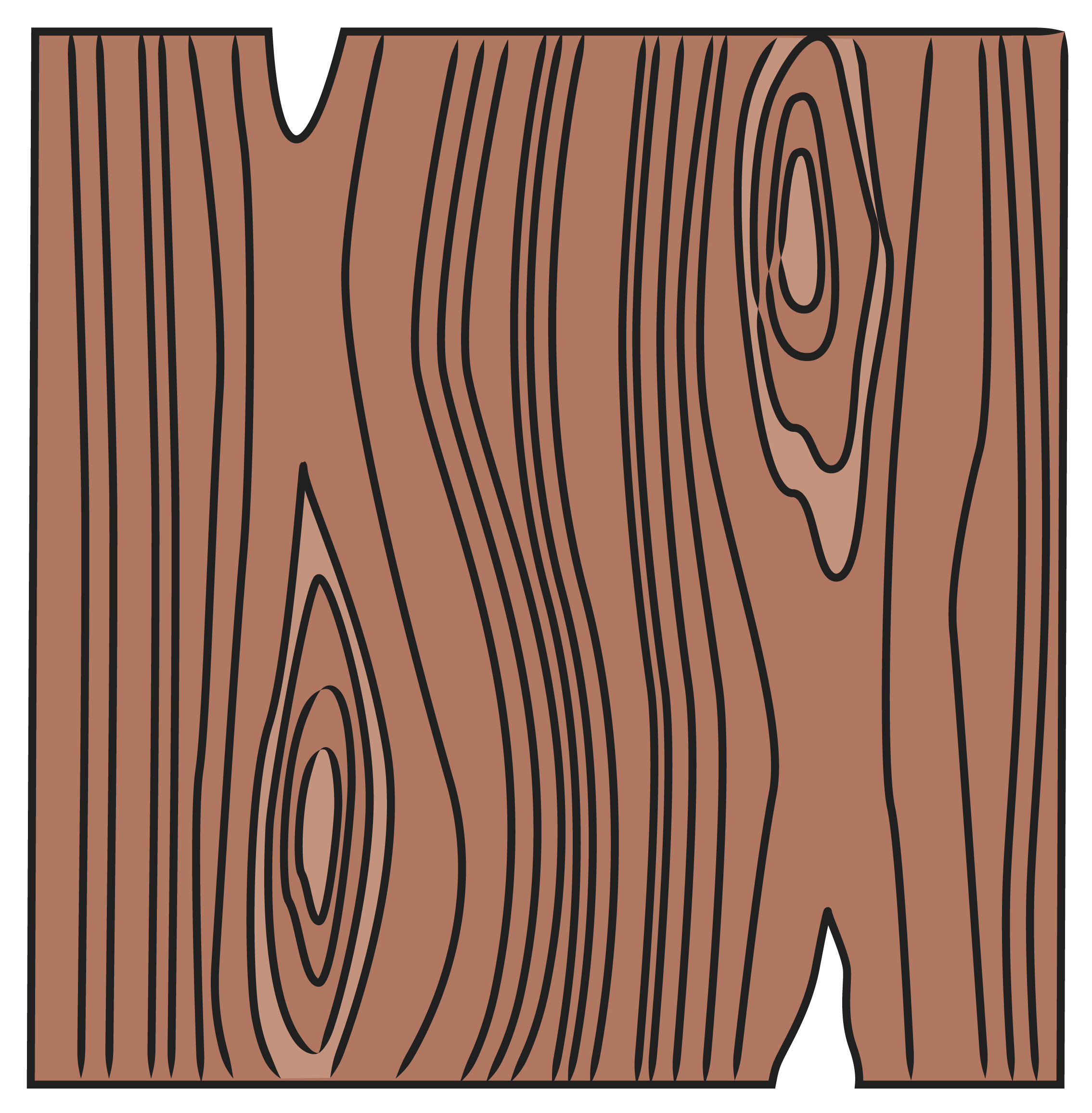 Drawn grain simple You to wood is a