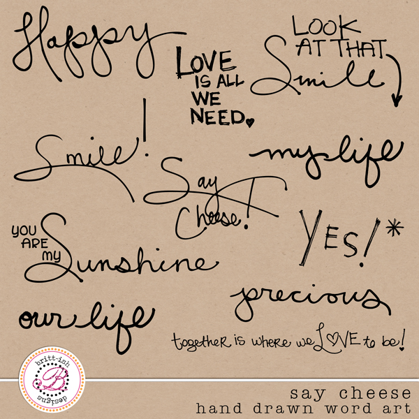 Drawn word Say Art Hand  [brittdes_saycheese_handdrawn