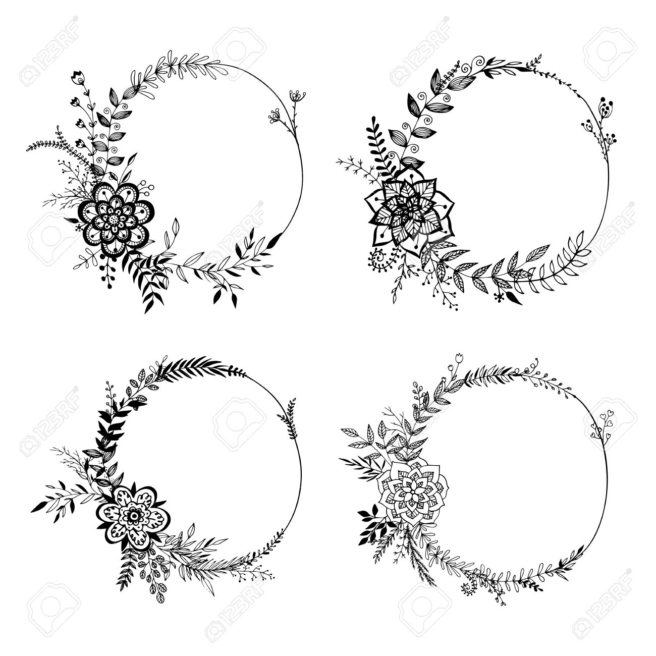 Drawn wreath #7