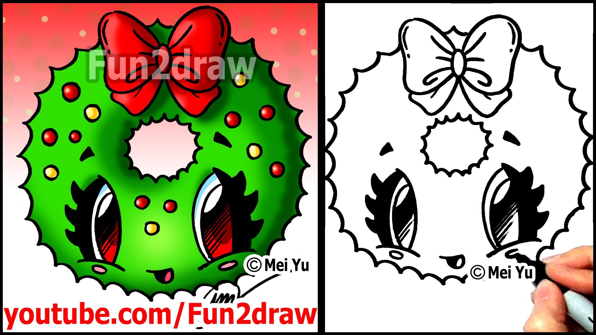 Drawn puppy fun christmas With with Cartoon to Bow