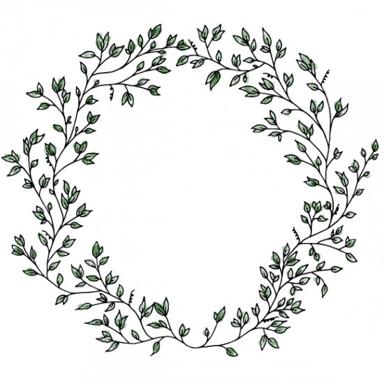 Wreath clipart old pen Perfect scrapbooking drawn for Hand