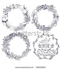Wreath clipart old pen Floral Search for Vector art