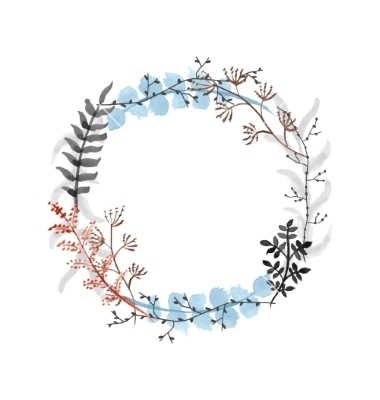 Drawn wreath Quotes floral Vector Hand drawn