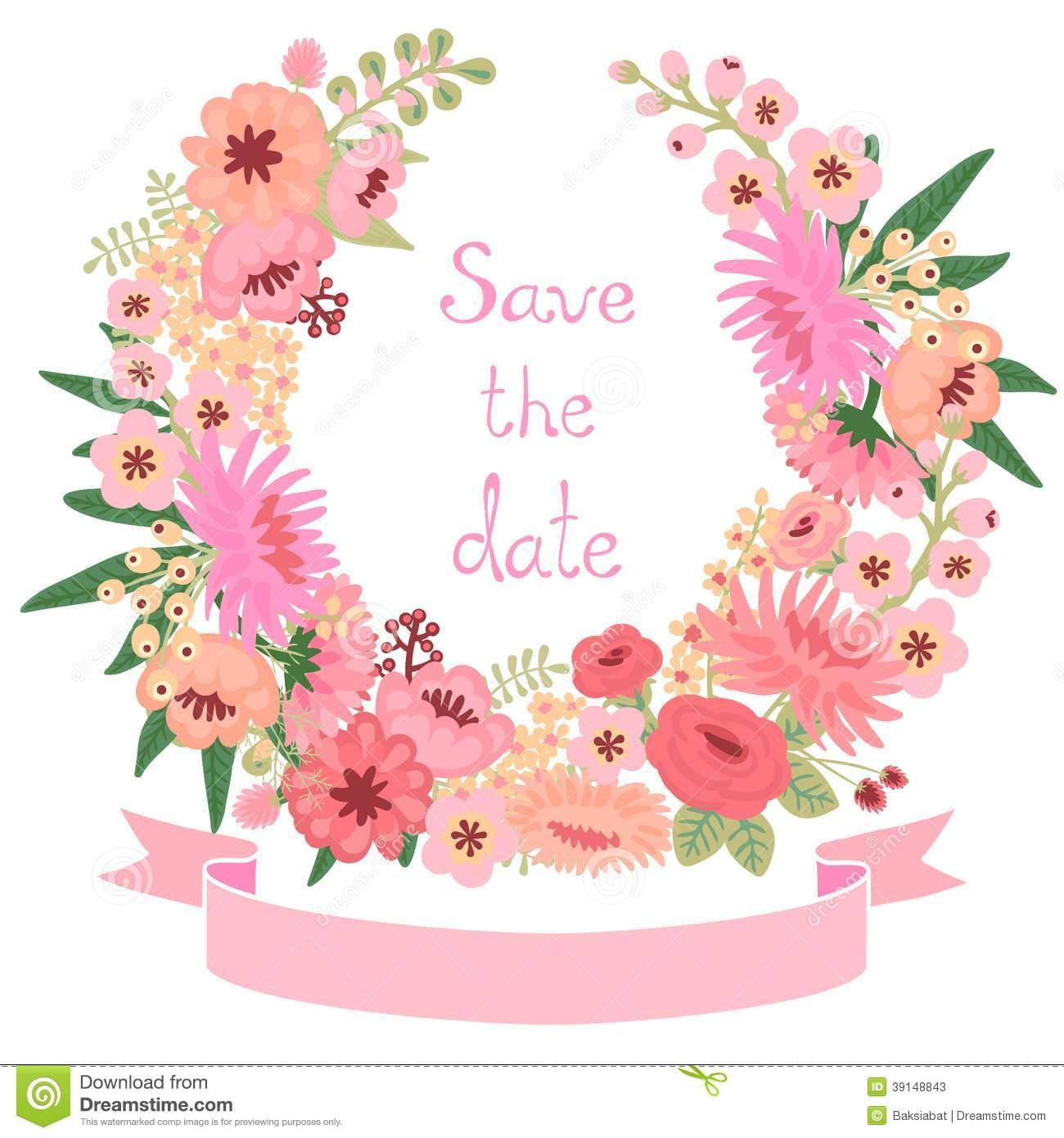 Vintage Flower clipart elegant invitation #2