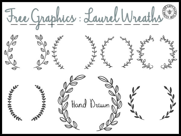 Wreath clipart hand drawn Laurel http://alongtheleftbank Wreath Laurel