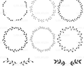 Wreath clipart hand drawn Drawn vector Files design drawn