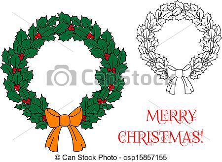 Holley clipart christmas wreath  wreath Clipart holly holly