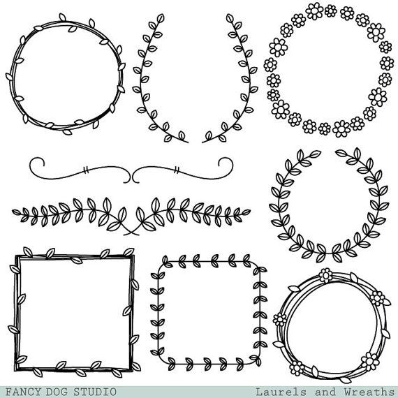 Wreath clipart fancy Laurel Vines cliparts Wreaths Clipart