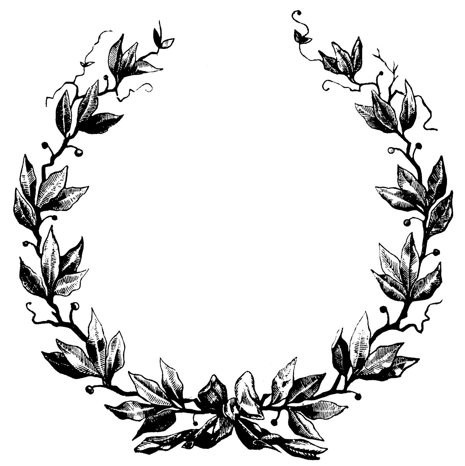 Classical clipart wreath Craft imágenes la ideas Álbum