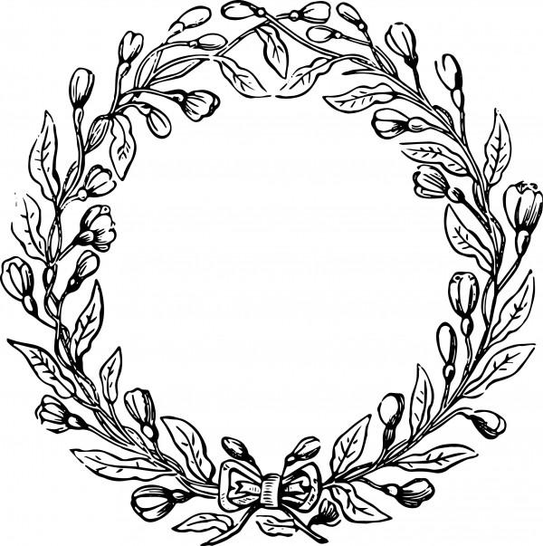 Vintage Flower clipart vintage line Wreath art vector Pinterest clip