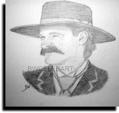 Drawn wyatt earp Graphite PENCIL DRAWING your TOMBSTONE