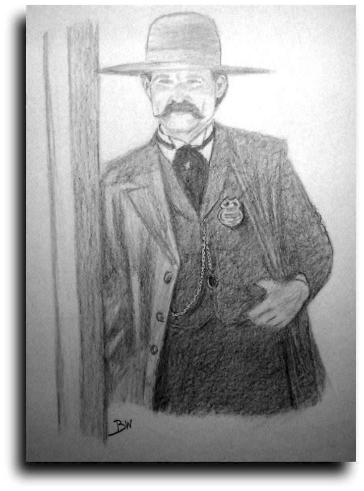 Drawn wyatt earp Drawing realism  graphite graphite
