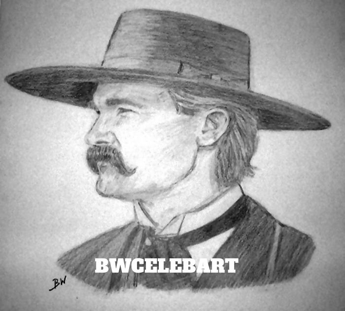 Drawn wyatt earp WYATT PENCIL DRAWING #Realism ORIGINAL