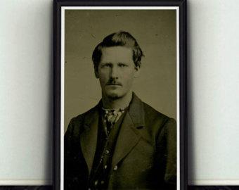 Wyatt Earp clipart template 11x17 Young Earp Earp Wyatt