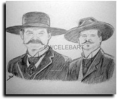 Drawn wyatt earp halloween tombstone ORIGINAL  KURT HOLLIDAY VAL