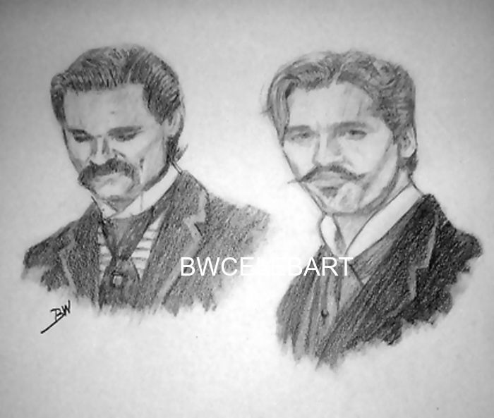 Drawn wyatt earp skull TOMBSTONE on images KURT EARP