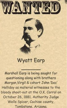 Drawn wyatt earp skull Wanted Quotes Wyatt the Material