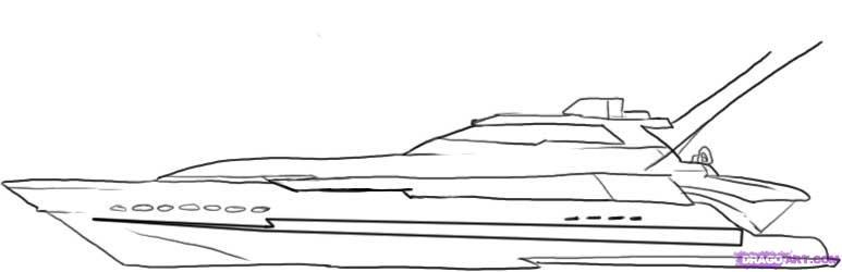 Drawn yacht #1