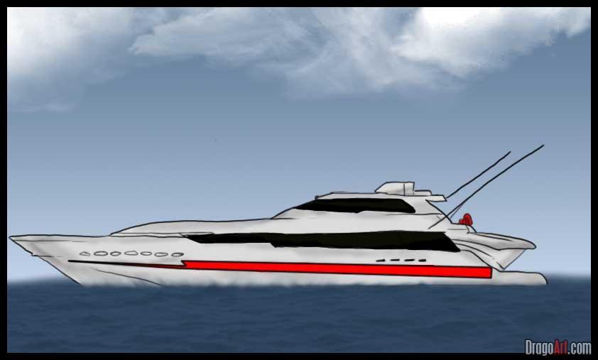 Drawn yacht #8