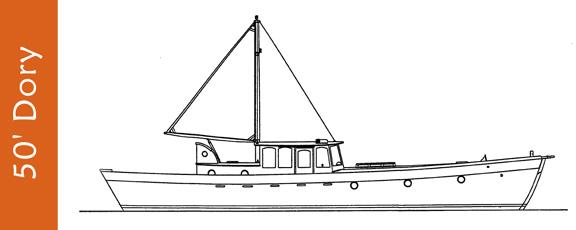 Drawn yacht #9