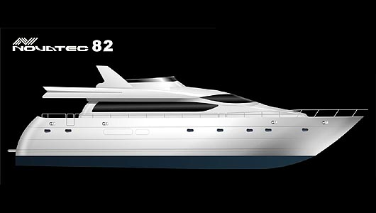 Drawn yacht #10