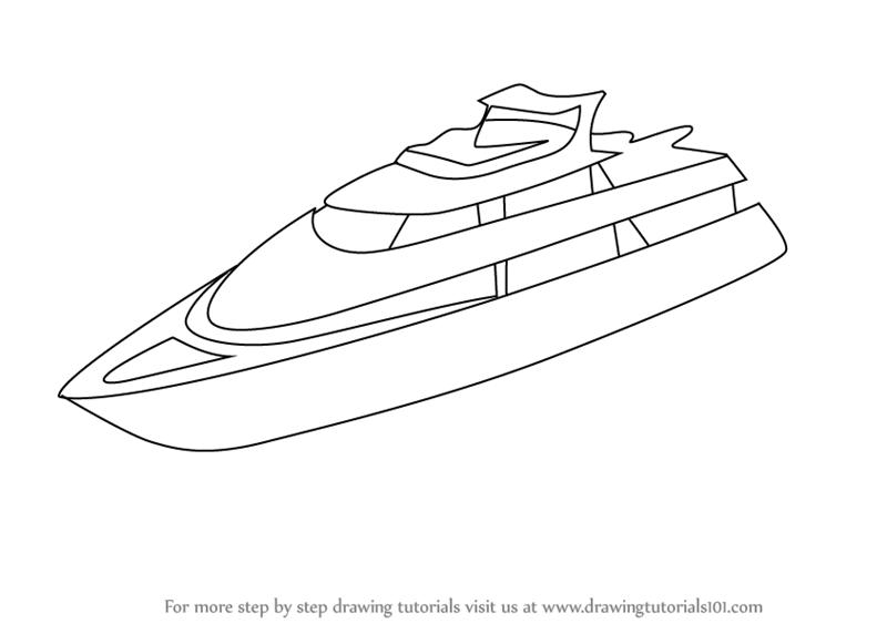 Drawn yacht #7