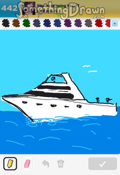 Drawn yacht #4
