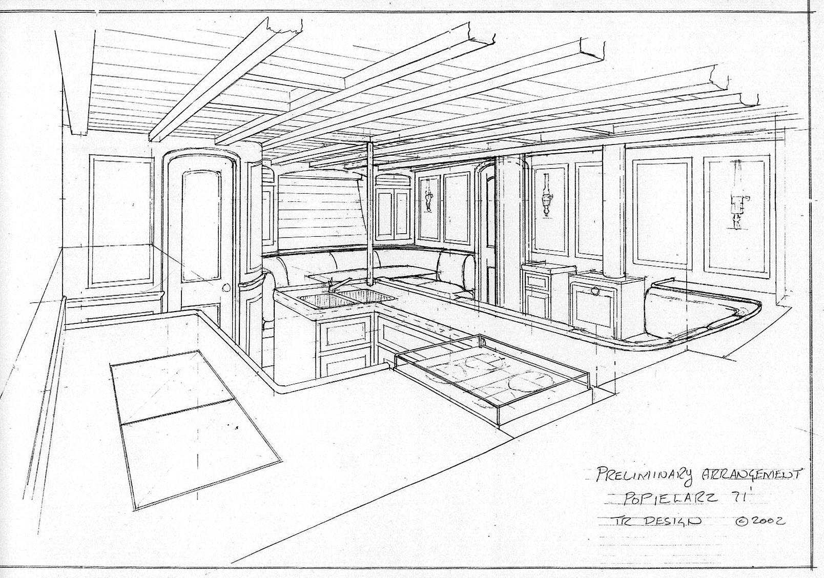 Drawn amd interior design Yacht Net Boat Design Popsaloon