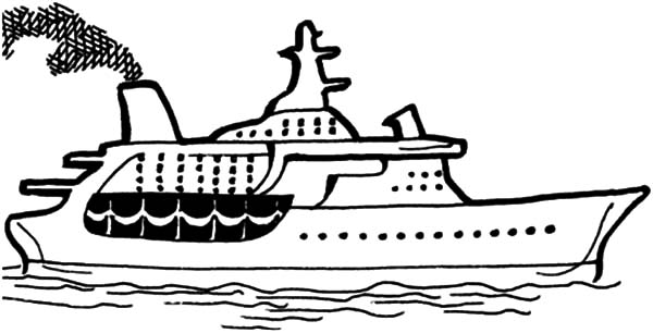 Drawn yacht cruise ship Cruise Coloring Pages for NetArt